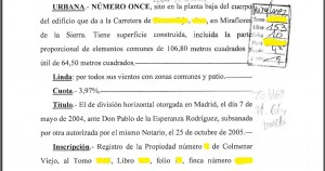 ESCRITURA IDENTIFICACION FINCA