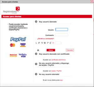 Acceso de Usuarios al Registro Online